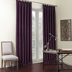 Two+Panels+Solid+Purple+Luxurious+Blackout+Curtains+Drapes+–+USD+$+73.99