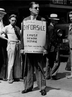October 29th marks the anniversary of the start of The Great Depression.
