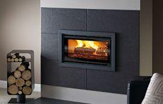 Sirius 600 Inset Inset Woodburning stove - Image 4 Slate Fireplace Surround, Inset Fireplace, Wood Burner Fireplace, Wood Burning Fireplace Inserts, Fireplace Built Ins, Bedroom Fireplace, Home Fireplace, Modern Fireplace, Living Room With Fireplace