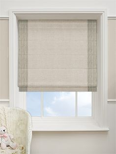 Jersey Sand Roman Blind from Blinds - middle window Roman Blinds, Salon Ideas, Window Treatments, New Homes, Middle, Windows, Mood, Home Decor, Blinds