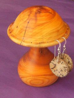 wood earring stands - Google Search