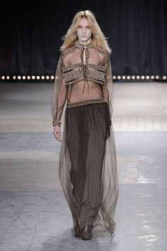 Another sheer look I like - with a camisole underneath, of course. ~The Best Looks from Paris Fashion Week Fall 2016 - ELLE.com's Favorite Looks from Paris Fashion Week 2016