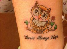 Owl Wrist Tattoo