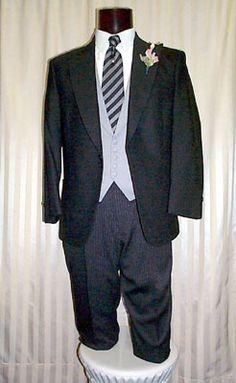 Grey Vest Black Suit