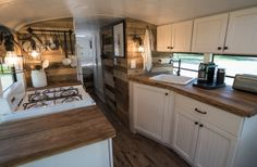 School Bus Conversion into Tiny House   Expedition Happiness on youtube
