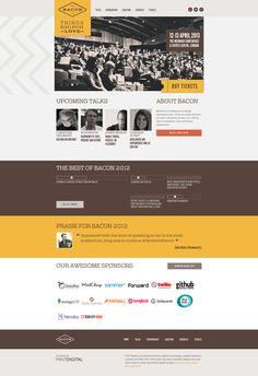 Conference website designs -  http://devslovebacon.com/