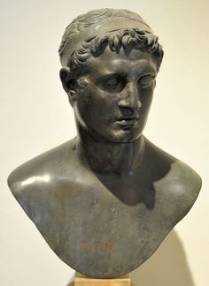 Bust of king Ptolemy II Philadelphus, from the Villa of the Papyri in Herculaneum; now in the National Archaeological Museum in Naples