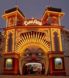 Queensland Australia, Melbourne Australia, Australia Travel, Melbourne Victoria, Victoria Australia, Vintage Neon Signs, Circus Poster, Send In The Clowns, St Kilda