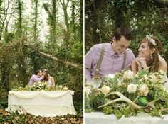 Romantic Nature-Inspired Snow White Wedding Inspiration