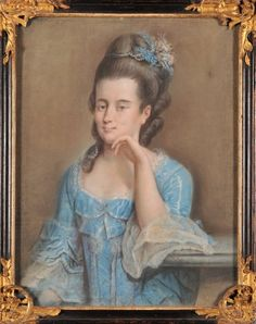 Some pictures from Gralath family come back to Gdańsk.  Beautiful blue taffeta robe a la francaise. It seems that the same dress  wearing Renata Gralath (stomacher, decoration and colors), I think it dated about 1770