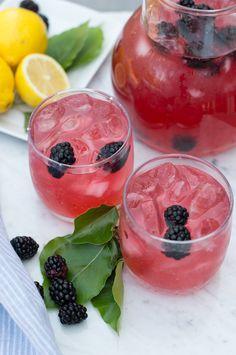 Sweet and Tart Blackberry Lemonade | superman cooks