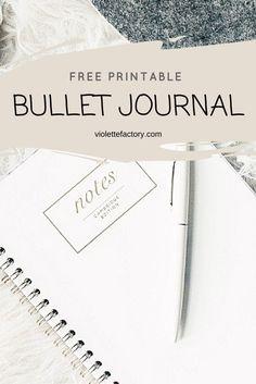 #bulletjournal #free #printable Des fiches spéciales Bullet Journal à imprimer