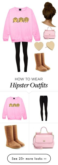 """""""Untitled #112"""" by beccabieber132 on Polyvore featuring AG Adriano Goldschmied, UGG Australia, Kate Spade and Dolce&Gabbana Check our selection  UGG articles in our shop!"""
