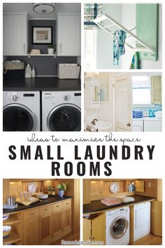 Check out these great ideas to maximize the space of a small laundry room. A collection on Remodelaholic. #Remodelaholic #smalllaundryroomideas #laundryroom #laundryroomideas #smalllaundryroom #diysmalllaundryroom #diylaundryroomideas