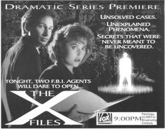 OMG it's the Holy Grail. The X-Files Pilot promo! So fabulous!!