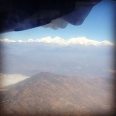 View from the plane ride to Pokhara. #himalayanjourney #wanderlust #nepal #mountainview