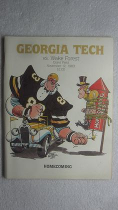 1983 Georgia Tech Football Program The Wake Forest Game | eBay