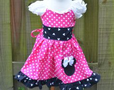 Custom Made Minnie Mouse Dress Embroidered by livewholly4him