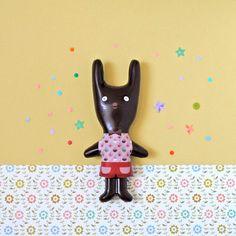Notre *Lapin d'Avril* en chocolat, création Mini labo pour Mazet
