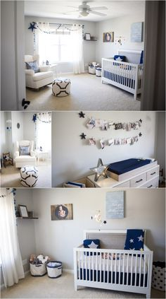 Navy Blue Nursery Ideas Star Themed So Cute Gold Baby