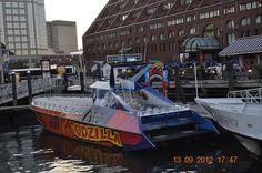 Godzilla Boat at Boston Harbor