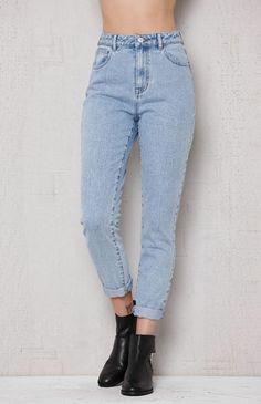 Steve Blue Mom Jeans