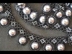 """Колье из бисера """"Жозефина"""". Бисероплетение. Мастер класс / Necklaces of beads. Beading - YouTube"""