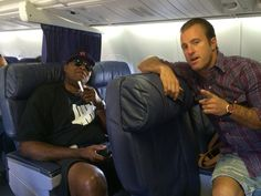 ♥♥♥ Masi Oka on twitter Sep 29, 2014 Flying with the boys. #H50 BTS ep 5.09 Chi McBride and Scott Caan