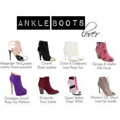Ankle Boots Lover by yacintashafira on Polyvore featuring Giuseppe Zanotti, Dolce&Gabbana, Alexander McQueen, Chanel, SJP, Django & Juliette and gx by Gwen Stefani