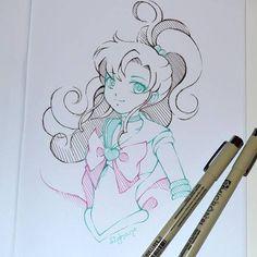 #doodles, doodles and some more doodles - next up is #sailor #jupiter! #sailormoon #sailormooncrystal #sailorjupiter #cute #kawaii #magical #girl #manga #anime #sketch #lighane #lighanesartblog