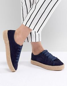 e1ab3ab08925 Asos Design Jan Suede Lace Up Espadrilles