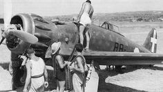 Rearming A Italian Macchi C-200 Saetta.