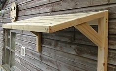 Timber Front Door Canopy Porch Bespoke Hand Made Porch Light Weight