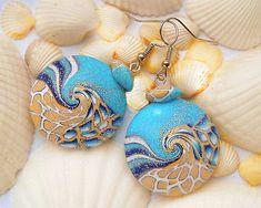 El mar más hermosos aretes Estos pendientes están hechos a
