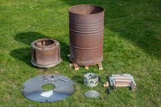 fire barrel with a fire plate - Building a fire barrel with a fire plate -Building a fire barrel with a fire plate - Building a fire barrel with a fire plate - instructables has a nice DIY concrete countertop guide Aufbau einer Feuertonne mit Feuerplatte Bbq Wood, Wood Grill, Bbq Grill, Grilling, Clean Grill Grates, Plancha Grill, Wood Burning Heaters, Rain Cap, Washing Machine Drum