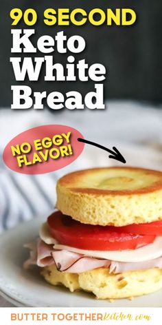 You're going to love this white bread version of the 90 second keto bread! This is the BEST 90 second keto bread you can try! It is amazing for toast, sandwiches and so much more! Easy Keto Bread Recipe, Lowest Carb Bread Recipe, 90 Second Keto Bread, Best Keto Bread, Mug Recipes, Low Carb Recipes, Healthy Recipes, Bread Recipes, Vegetarian Recipes