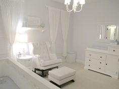 This all-white nursery is so chic!