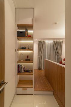 Apartment Design Jakarta modern scandinavian living room interior with pastel color