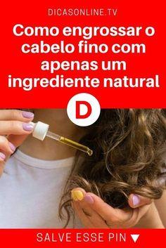 Engrossar cabelo fino | Como engrossar o cabelo fino com apenas um ingrediente natural | Além de engrossar o cabelo fino, o óleo de coco ajuda a nutrir e a reparar os fios. Veja como cuidar do cabelo usando apenas um ingrediente natural.