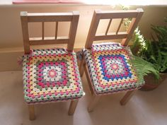 I'm so excited to share my new happy crochet chair covers with you. My girls had these simple ikea wooden chairs now for few years, so they come with few marks and scratches now, but still cute and perfectly serving their purpose. Looking at them the other day I... #chaircovers #colours #crochet