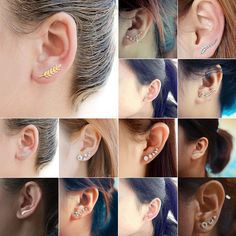 Fashion Woman Ear Climber Leaf Octopus Moon Cuffs Ear Crawlers Sweep Earrings - Earring Climbers - Ideas of Earring Climbers - 0 The post Fashion Woman Ear Climber Leaf Octopus Moon Cuffs Ear Crawlers Sweep Earrings appeared first on Awesome Jewelry. Ear Crawler Earrings, Cuff Earrings, Heart Earrings, Flower Earrings, Crystal Earrings, Evil Eye Jewelry, Heart Jewelry, Rainbow Quartz, Shops