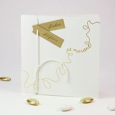 Frisch Verheiratet Einzigartig Elfenbein mit Band Hochzeitskarten p OPA055 2014 Vintage Bohemian Chic Hochzeit Inspiration
