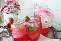 pretty tea party with jars