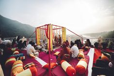 Tying the knot on the banks of the holy River Ganga can bring in a feeling of serenity to our heart. Rishikesh will offer you the peaceful and most heartwarming ambiance to start the best part of your life unruffled. #ShlokaEvents #DestinationWedding #RoyalWedding #ShlokaWedding