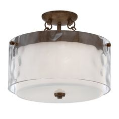 Jeremiah Lighting 35453-PR Kenswick Semi-Flush Ceiling Light   ATG Stores