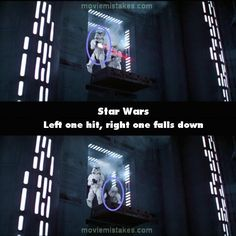 Star Wars movie mistake picture (ID Screen Junkies, The Trooper, Nobodys Perfect, Harry Potter Jokes, Movie Facts, Movie Mistakes, Sci Fi Movies, Popular Movies, Movie List