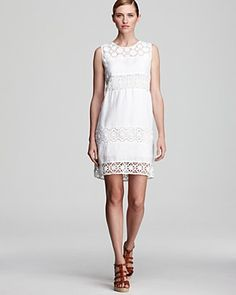 DKNY Sleeveless Mixed Lace Sheath Dress | Bloomingdale's