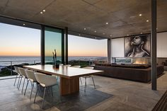 Don't you just love how stacked doors in living rooms can make such a huge difference!? #living #oceanview