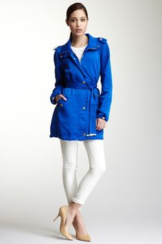 Faille Belted Trench. love the color