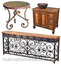 Great Tuscan style furniture wrought iron, rustic wood and copper The post Tuscan style furniture wrought iron, rustic wood and copper… appeared first on Marushis Home Decor . Tuscan Style Homes, Spanish Style Homes, Tuscan House, Spanish House, Tuscan Home Decorating, Diy Home Decor, Decor Room, Interior Decorating, Style Toscan